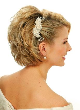 Свадебные прически с короткими волосами