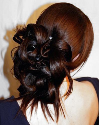 вечерние прически на густые волосы фото