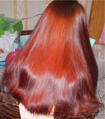 хна для волос фото после окрашивания хной