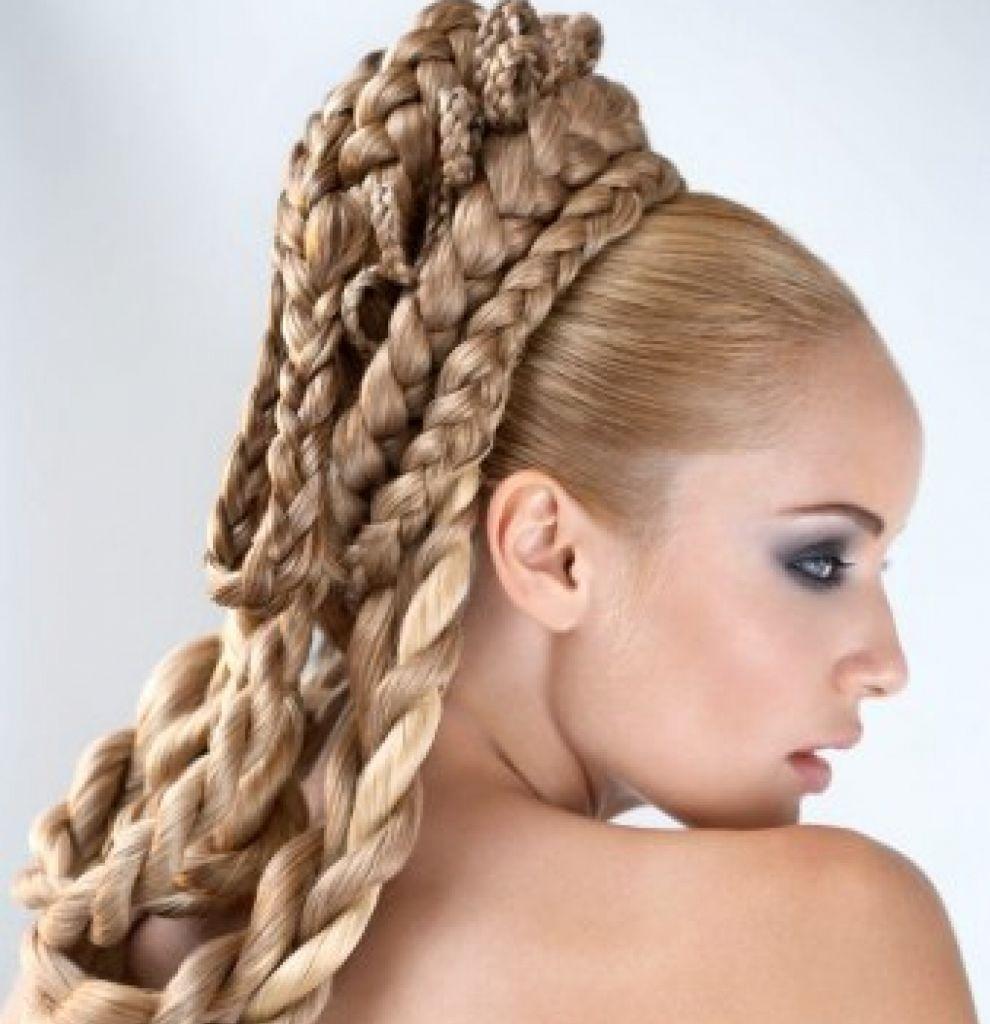 Картинки косички на длинные волосы с схемами - 16