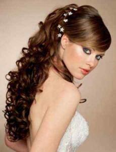 Прически на  свадьбу с длинными волосами