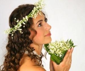 Фото свадебных причесок на средние волосы