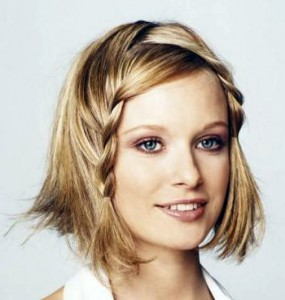 французские косички на средние волосы