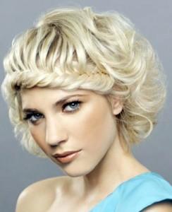фото  косичек на короткие волосы