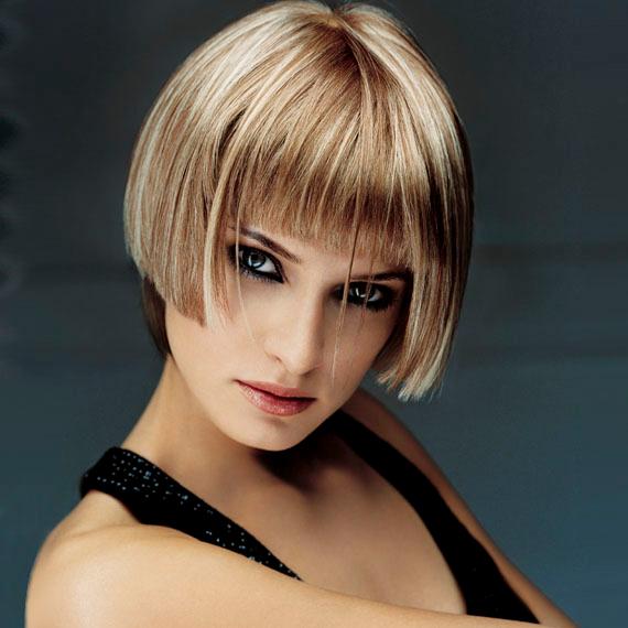 Мелирование на коротких русых волосах
