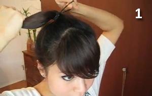 бант из волос сделать