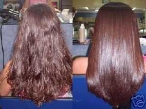Бразильское кератиновое восстановление волос до и после