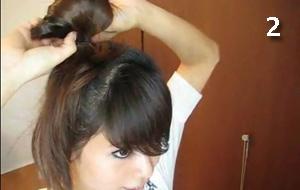 как сделать бант из волос в домашних условиях