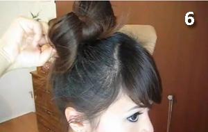сделать бант из волос самой себе