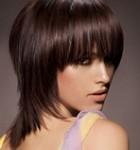 Стрижка каскад для средних волос.