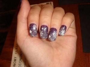 """Как сделать простые рисунки на ногтях """"Зима""""?"""