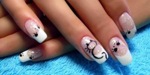"""Делаем простые рисунки на ногтях иголкой """"Котик"""""""