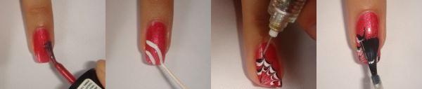 маникюр рисунки на ногтях иголкой