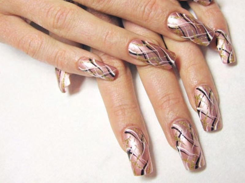 Как сделать простые рисунки на ногтях