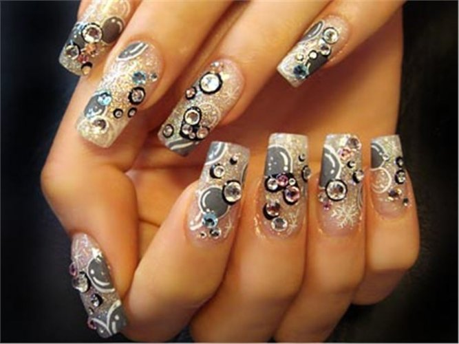 рисунки на ногтях красками на ногтях фото