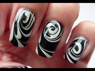 Водный маникюр на ногтях в домашних условиях 793