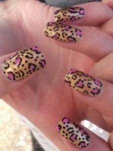 """Рисунки для коротких ногтей """"Леопардовые ногти"""""""