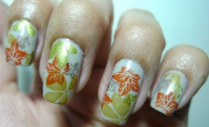 Как сделать дизайн ногтей осенние листья?