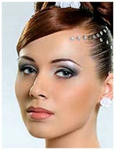 Свадебный макияж для брюнетки