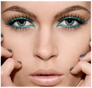 Красивый макияж для голубых глаз - вечерний