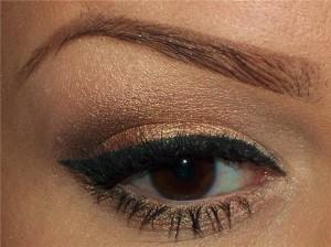 Макияж для карих глаз  - коричневые тени