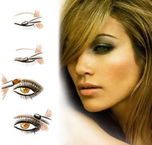 Дымчатый макияж для карих глаз - техника выполнения