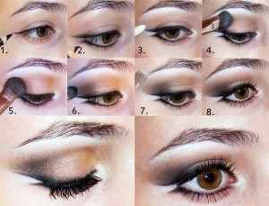 Уроки макияжа для карих глаз поэтапно