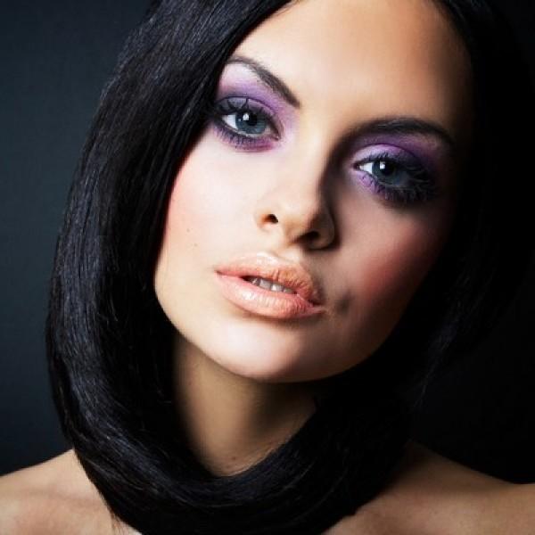 Фото вечернего макияжа для брюнеток