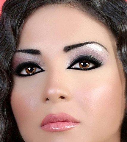 Вечерний макияж для карих