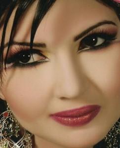Восточный макияж для карих глаз фото