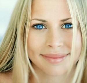Красивый макияж для голубых глаз - дневной