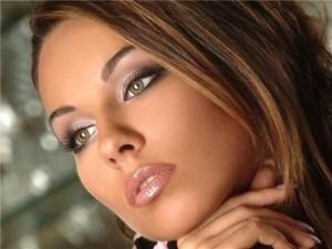 макияж дневной для зеленых глаз