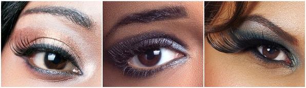 новогодний макияж: карие глаза
