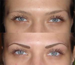Перманентный макияж до и после