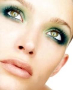 Новогодний макияж для зеленых глаз - цветовая гамма