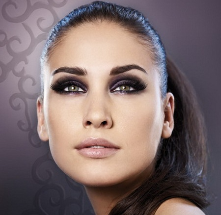 Макияж для серо-зеленых глаз и русых волос фото