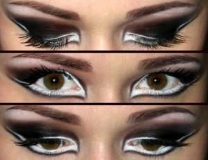 Макияж для круглых глаз - стрелки