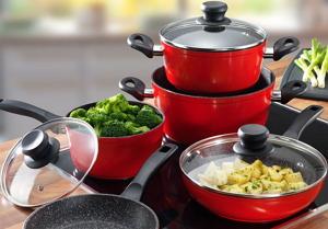 Форма и покрытие посуды для кухни